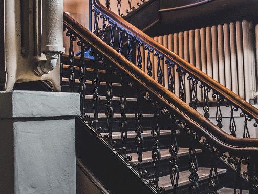 Stairway to main hall