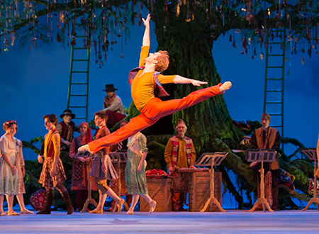Steven McRae as Florize in The Winter's Tale. Credit: Royal Opera House, 2014. Photograph: Johan Persson.