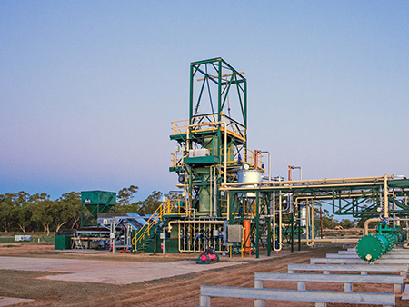 Green Distillation Technologies first plant located near Warren in NSW.