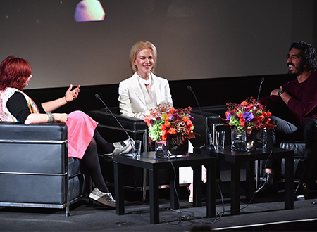 BFI Director Clare Stewart, Nicole Kidman and Dev Patel. (Photo by Gareth Cattermole/Getty Images for BFI)