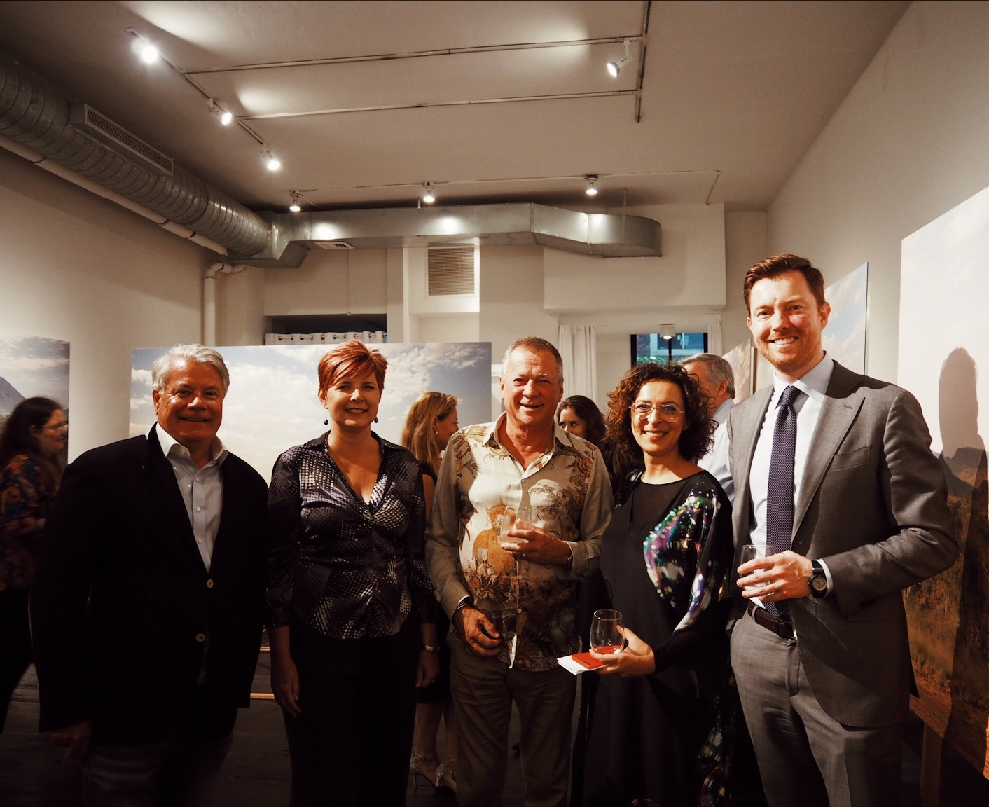 Alastair Walton, Consul-General of Australia, New York; Maria Jowett-Horth; Anthony Horth, Artist; Serafina Maiorano, Global CEO, Advance; Ian Taylor, Goldman Sachs