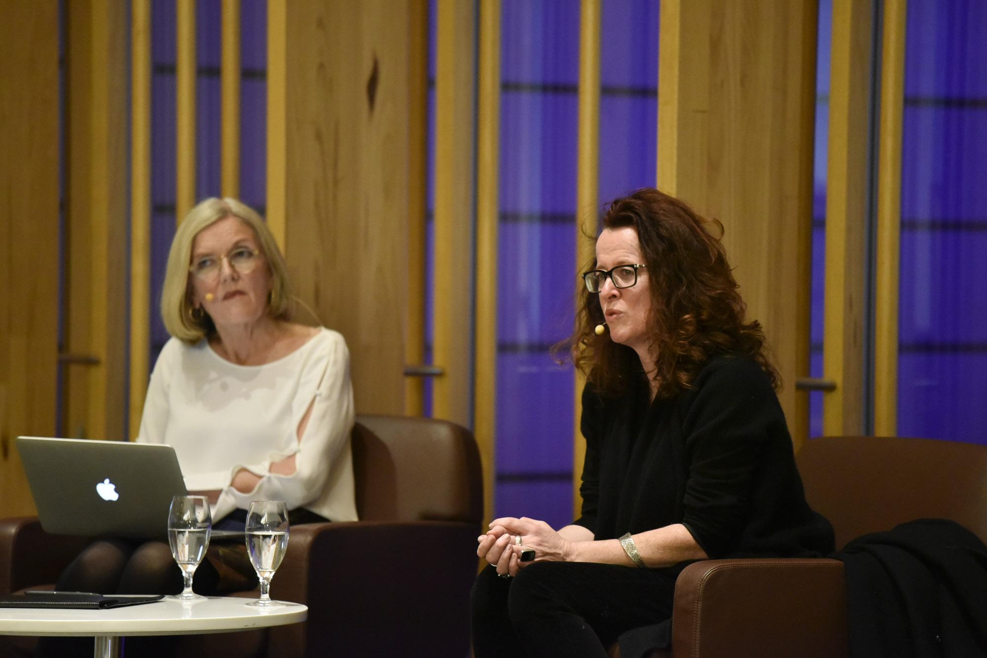 Jenny Brockie interviewing Professor Genevieve Bell