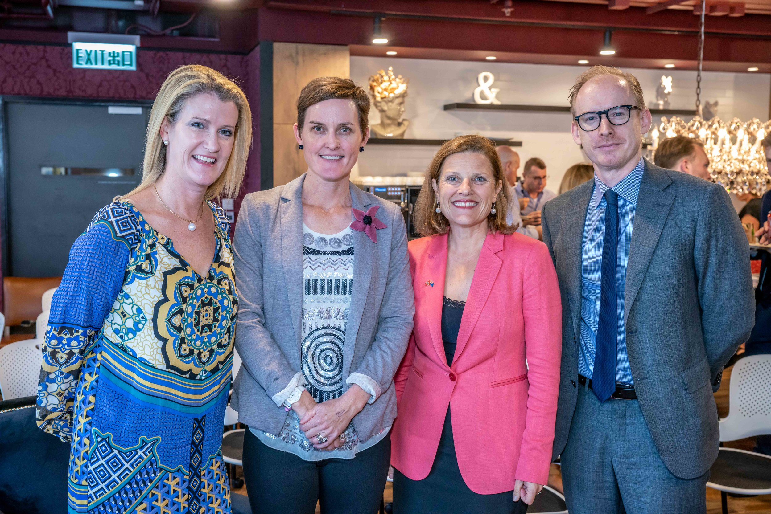 Sarah Clarke, Dalene Wray, Consul General to Hong Kong Michaela Browning, Senior Trade Commissioner, Sam Guthrie