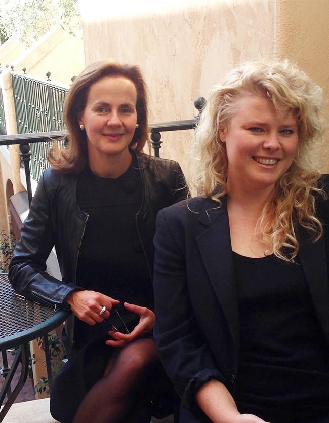 Sally Paridis and Erika Whillas (L-R)