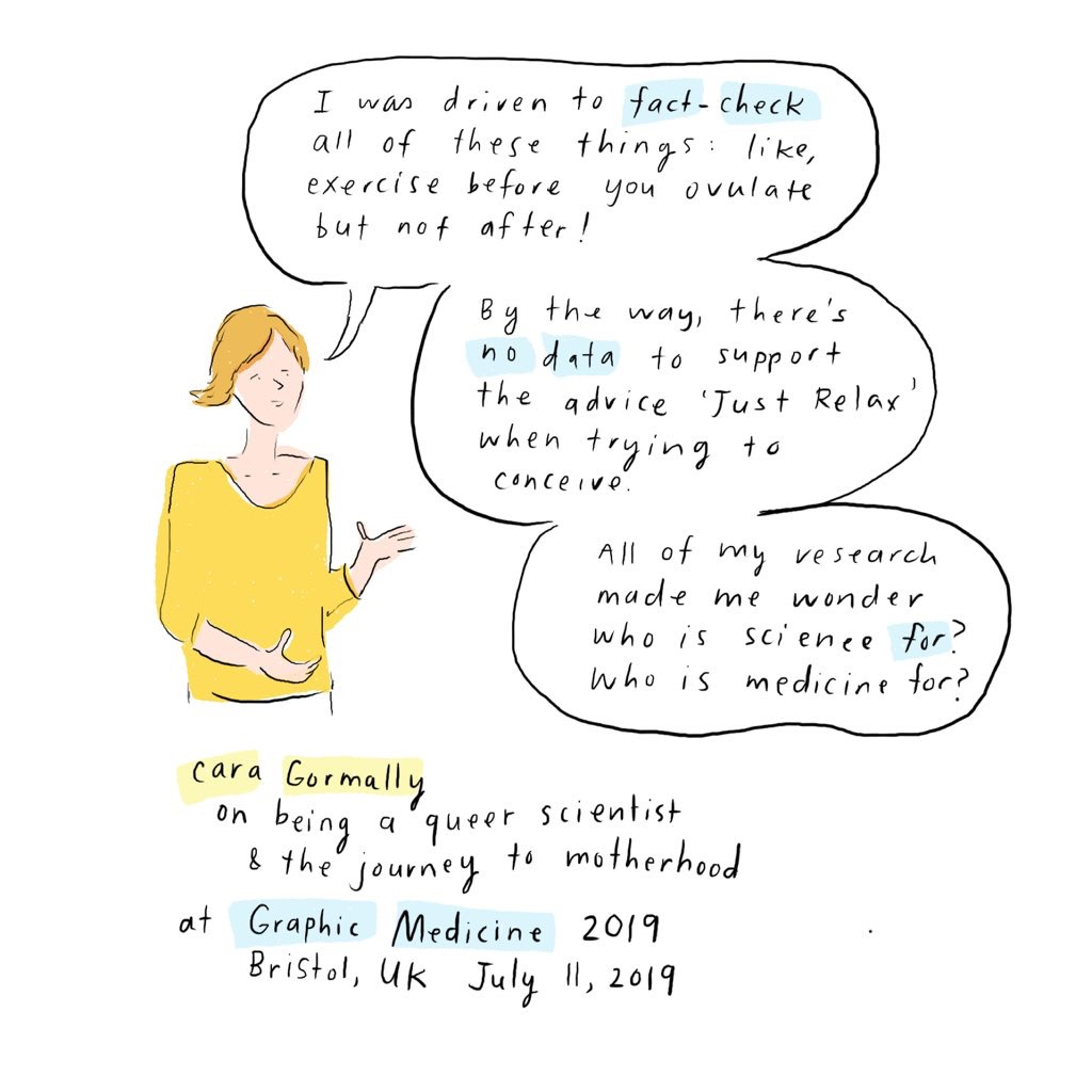 Comic depiction by Grace Farris, MD (@CoupDeGraceFarris)