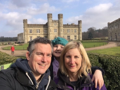 (Rob, Vicki and Chloe - Please note this was not our UK home, its Leeds Castle in Kent!)