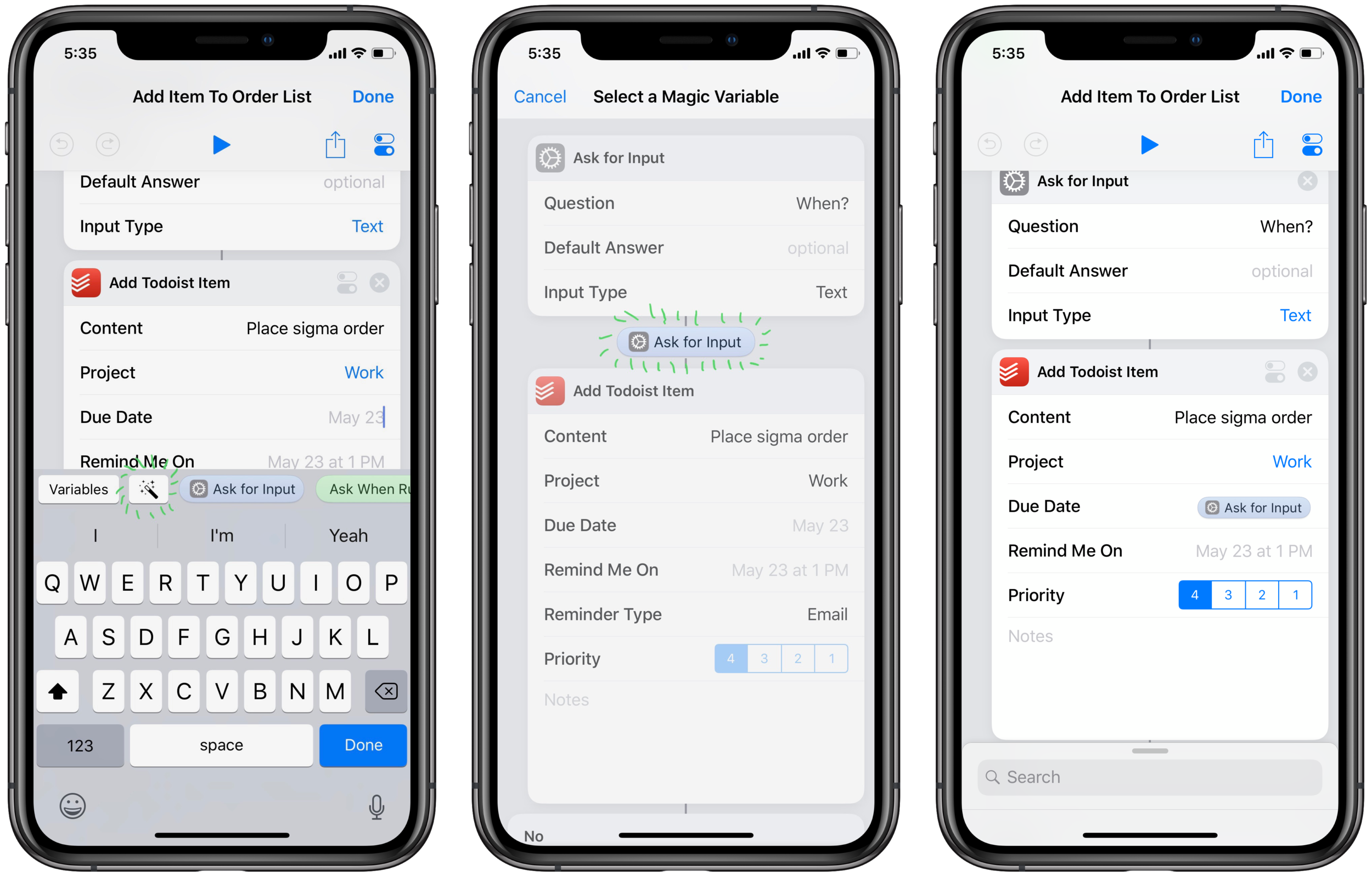 Speeding Up Consumables Orders with Shortcuts on iOS