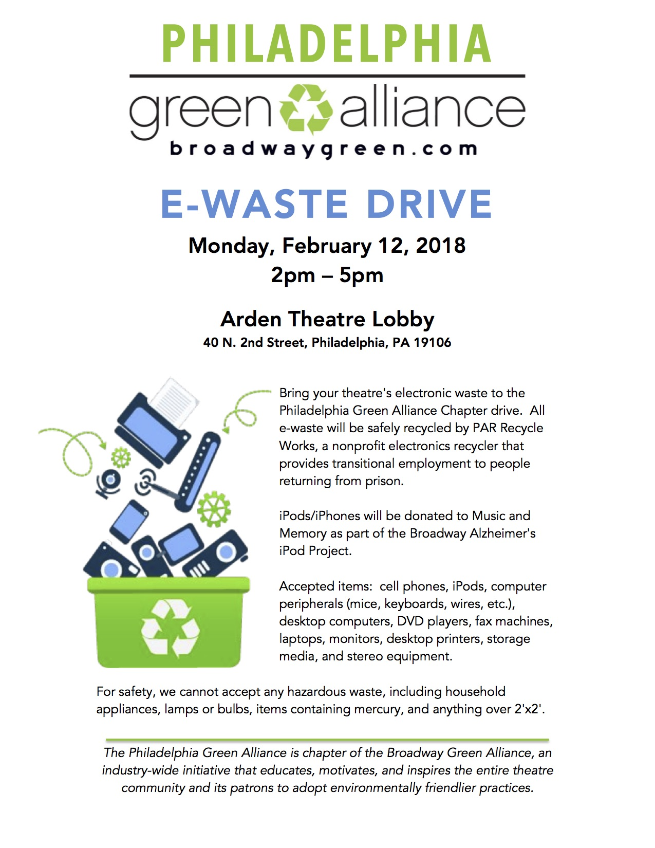 Philadelphia Green Alliance - E-Waste Drive 2018.jpg