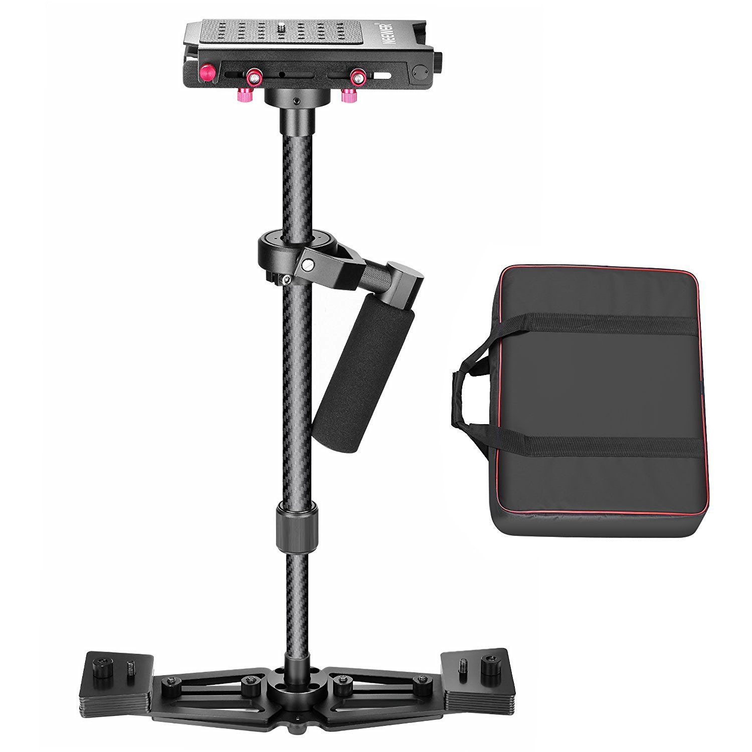 Steadicams  are a much cheaper option and can still achieve some great results.