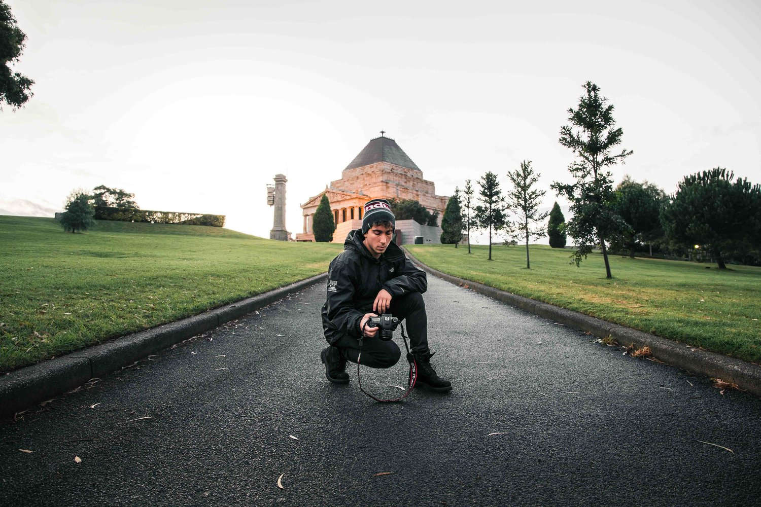 The Shrine of Remembrance is just across from the Botanical Gardens.