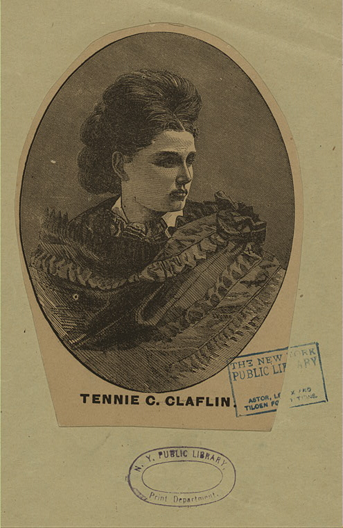 Tennessee Claflin.  Tucker Collection. New York Public Library