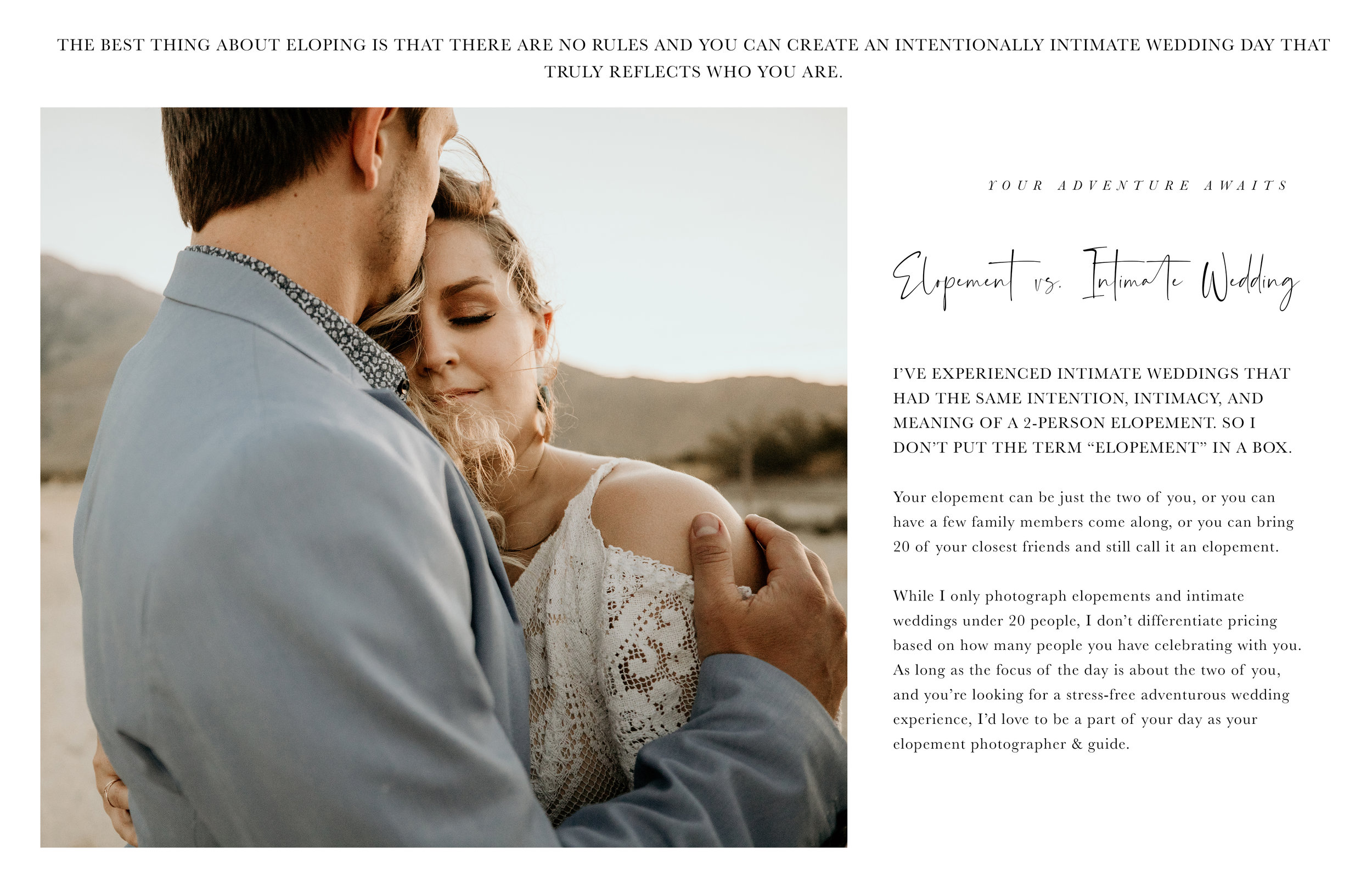 ELOPEMENT VS INTIMATE WEDDING