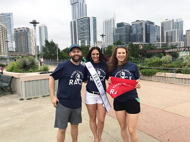 W2NR Austin Nexters are well on their way!! Great day to race around the city!! Thank you to Ms. Texas 2019 @tracebow20 for joining us on the race course 🙌🙌☺️☺️ #wheretonextrace #w2nr #austin #texas #mstexas #amazingrace #atx #512