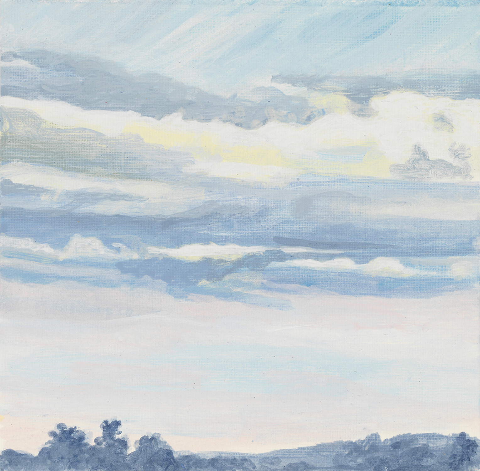 "Krems AIR 8, 2017, acrylic on paper, 6"" x 6"""