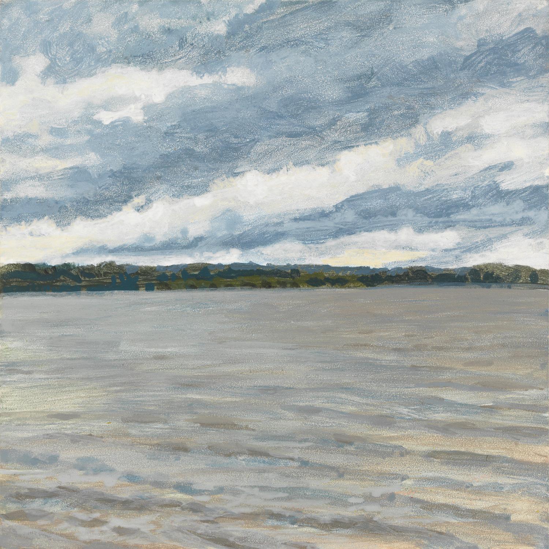"Lake Chautauqua, 2015, acrylic on panel, 6"" x 6"""