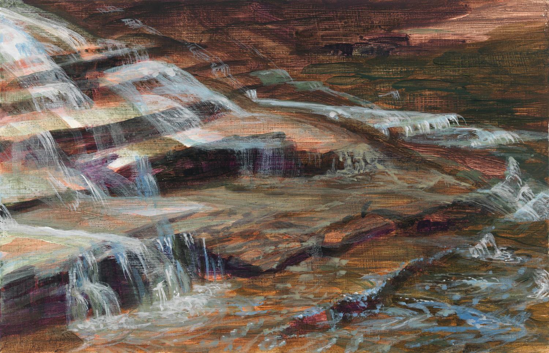 """Ithaca, 2014, acrylic on panel, 6"""" x 9"""""""