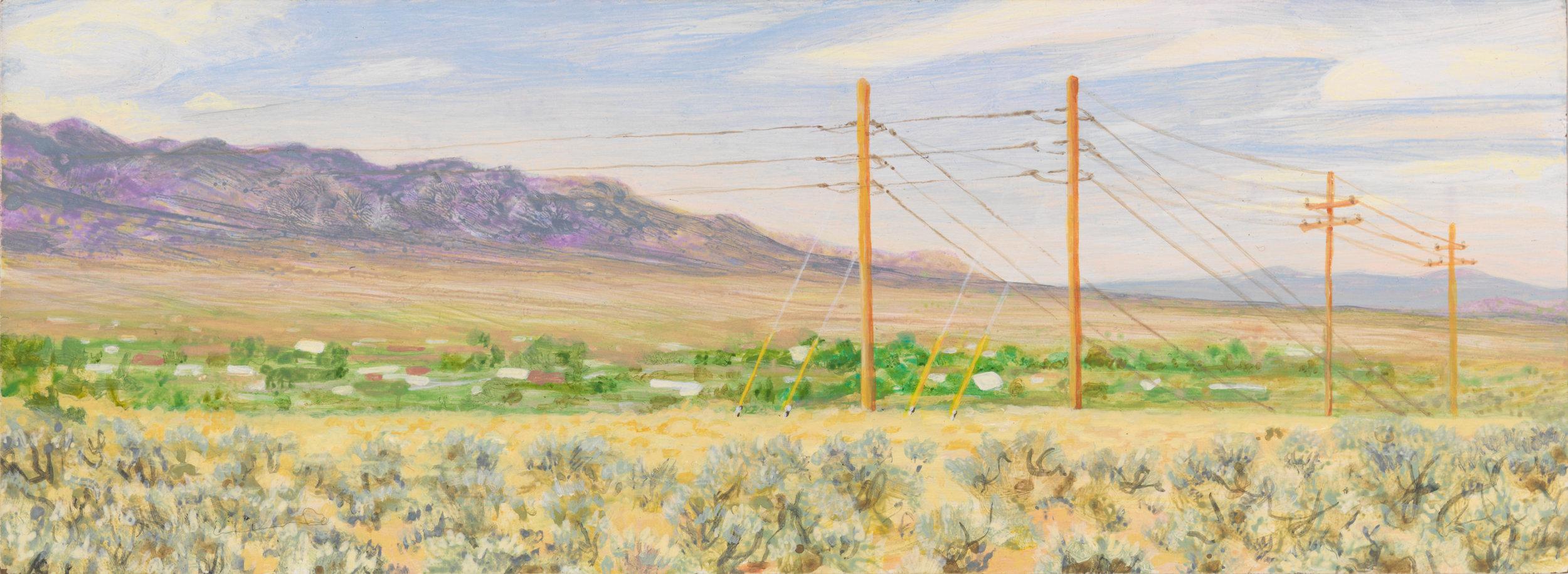 "Taos, 2006, acrylic on panel, 4.5"" x 12"""