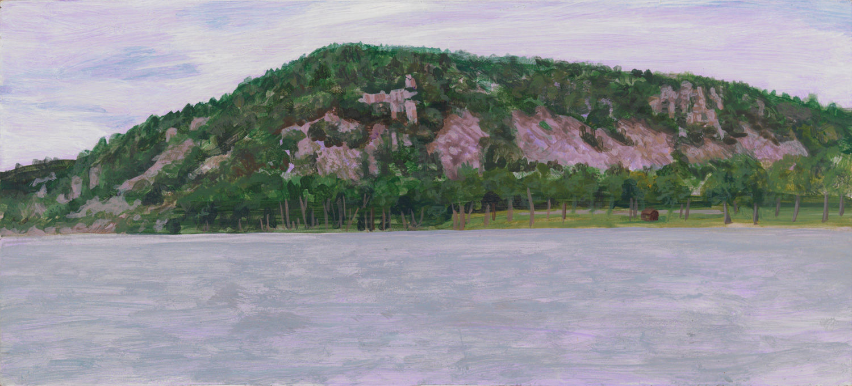 "Devil's Lake, 2004, acrylic on panel, 5"" x 11"""