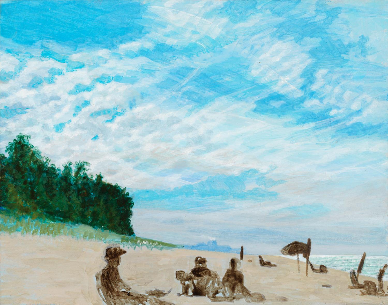 """New Buffalo, 2003, acrylic on panel, 5.5"""" x 7"""""""