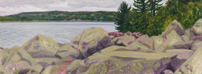 "Devil's Lake, 2005, acrylic on panel, 4.5"" x 12"""