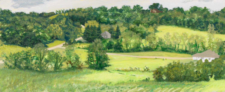 """Wisconsin Hills, 2004, acrylic on panel, 4.5"""" x 11"""""""