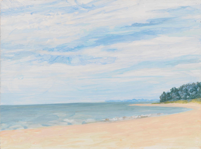 """Lakeside, 2005, acrylic on panel, 4"""" x 5.5"""""""