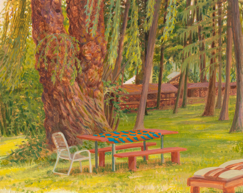 "Lats Cottage, 2005, acrylic on panel, 8"" x 10"""