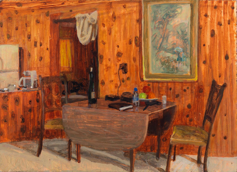 """Nordic Pines, 2005, acrylic on panel, 3"""" x 4"""""""