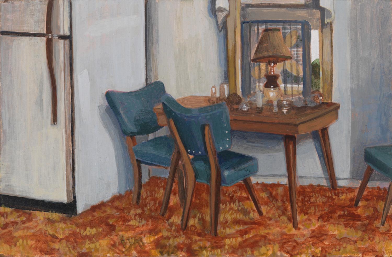 """Door County, 2002, acrylic on panel, 4"""" x 6"""""""