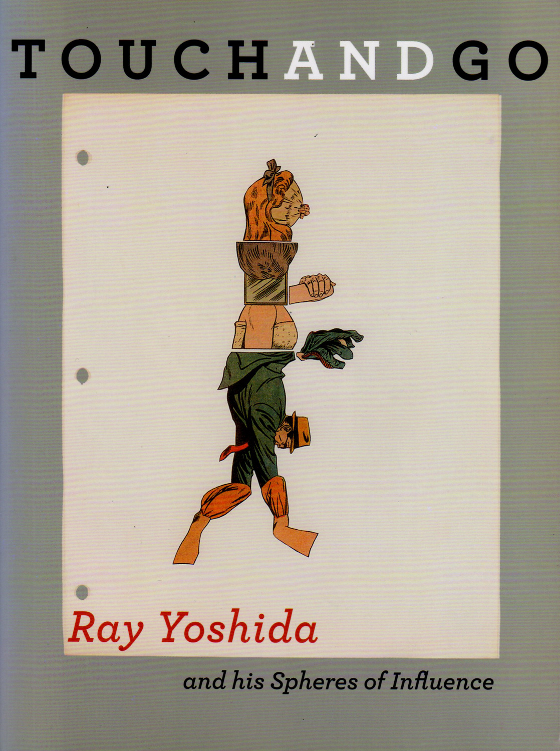 Touch and Go, Ray Yoshida and his Spheres of Influence  accompanied Ray Yoshida's 2011 retrospective at the School of the Art Institute of Chicago's Sullivan Galleries. This book traces Yoshida's oeuvre as well as the work of the students he influenced and later collected throughout his teaching career.