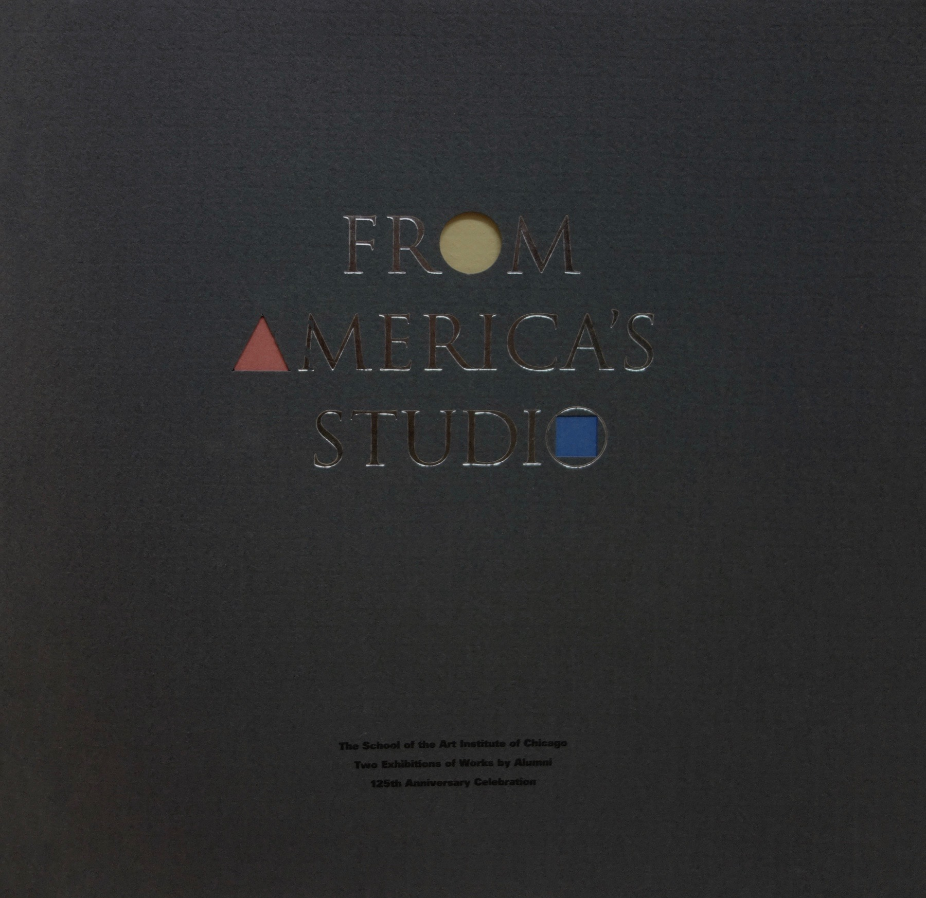 From America's Studio  was published in conjunction with two exhibitions honoring the 125th anniversary of the School of the Art Institute of Chicago. The catalog details the cultural significance of the SAIC in a forward by guest curators - Neal Benezra and James Yood - and in essays by Robert Storr and Dennis Adrian.