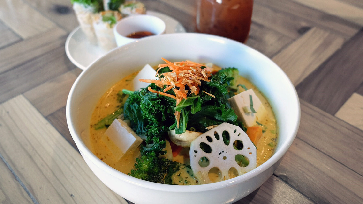 The Golden Temple Soup at Vancouver's Chau Veggie Express. Photo credit: Melly Woo.
