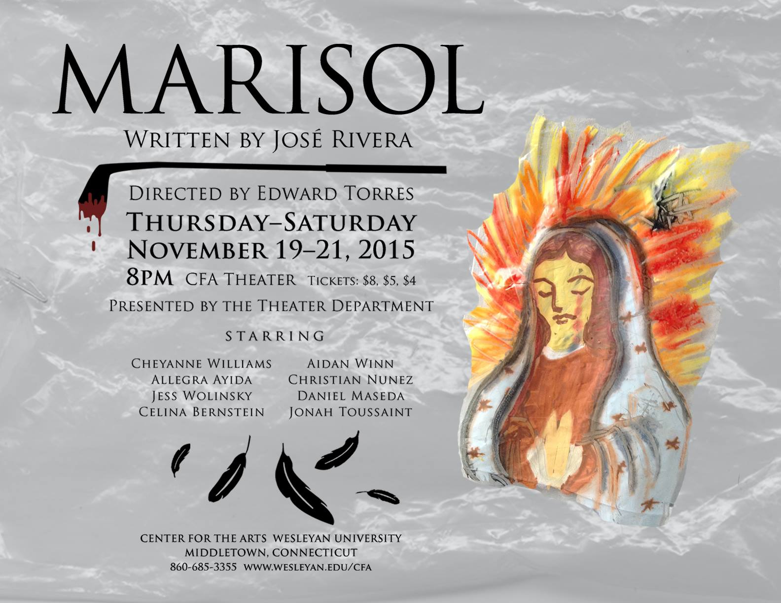 Wesleyan University's production of  Marisol  by Jose Rivera, Directed by Edward Torres   (2015)