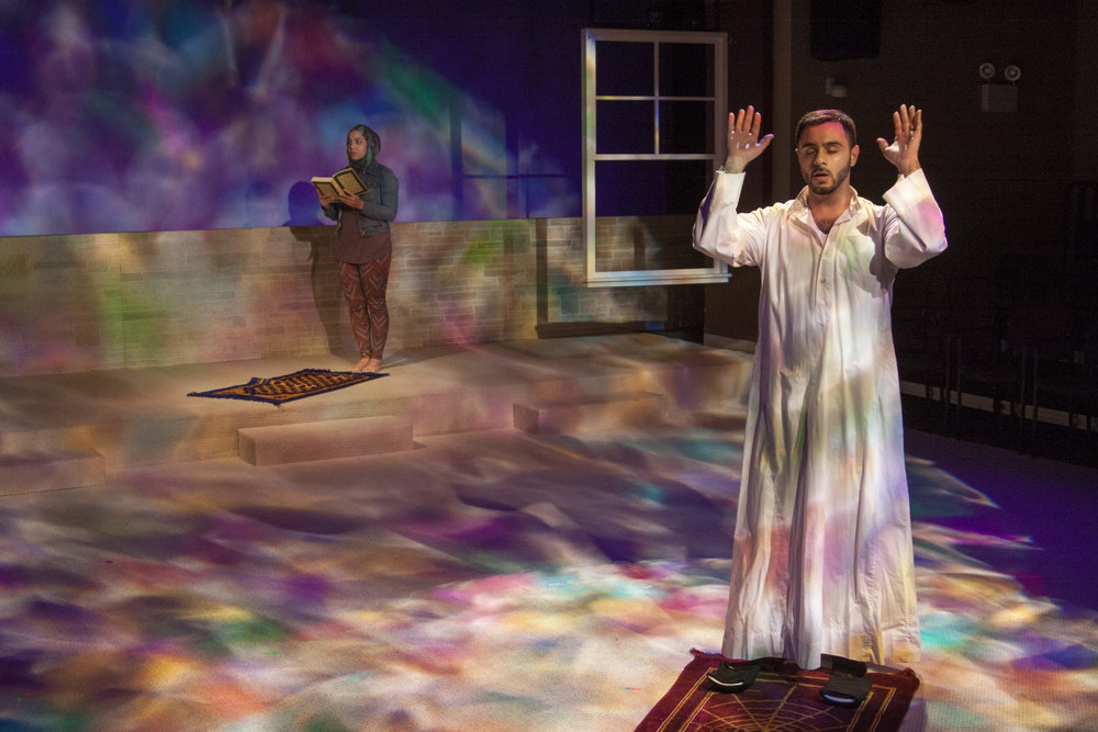 World Premiere of  Mosque Alert  by Jamil Khoury, Directed by Edward Torres at Silk Road Rising in Chicago, IL (2016)