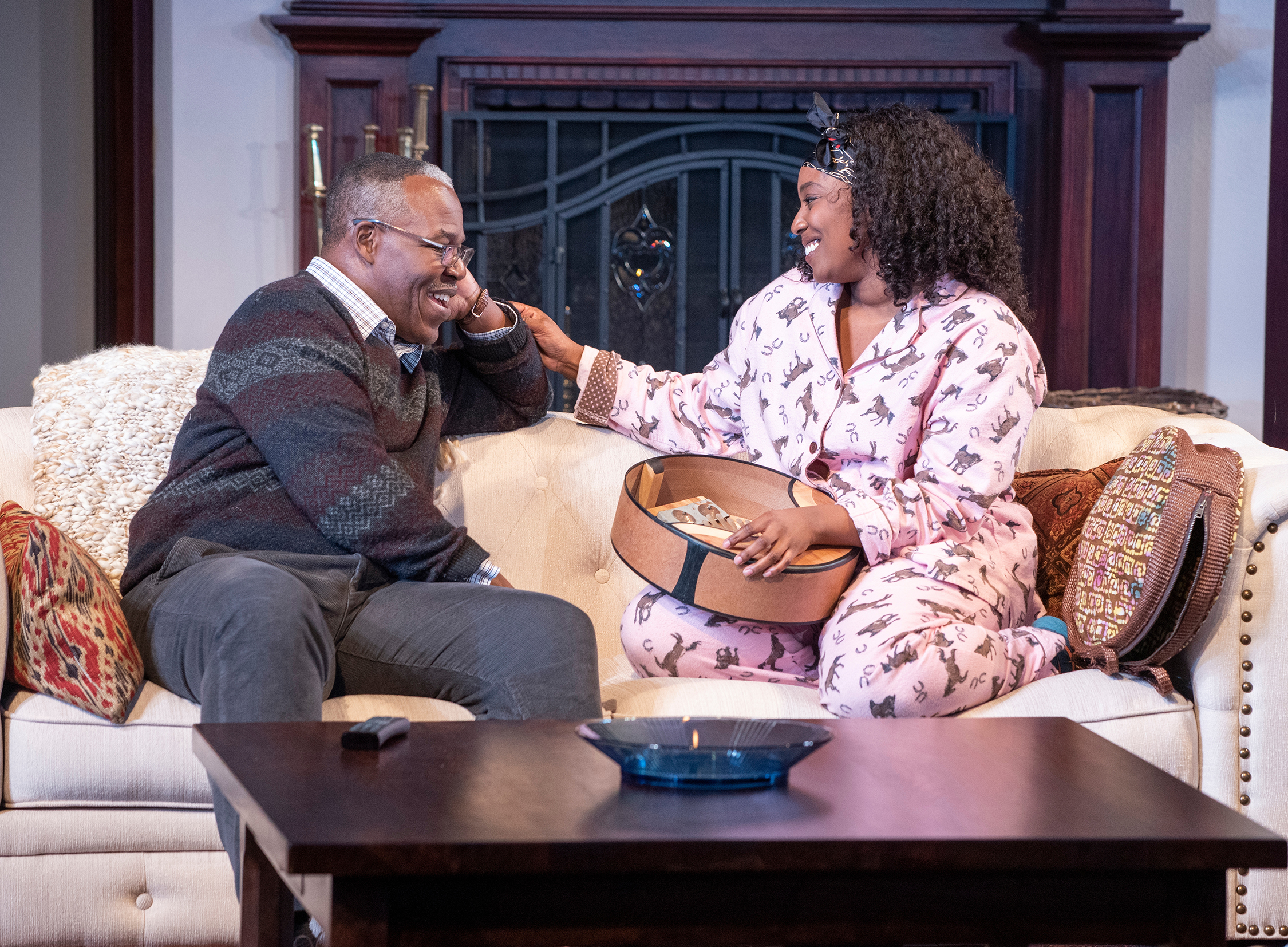 Danny Johnson and Olivia Washington in  Familiar , January 26–March 3 at The Old Globe   See more
