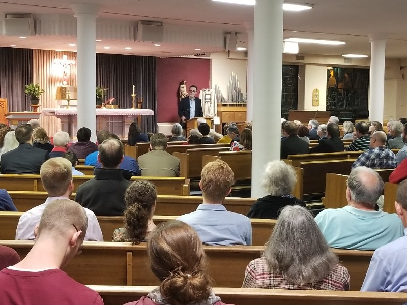 300 people came to hear Rod Dreher talk about The Benedict Option.