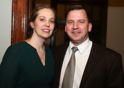 Martin Saints Classical High School Headmaster Adam Dickerson attended the dinner with his wife Sarah.