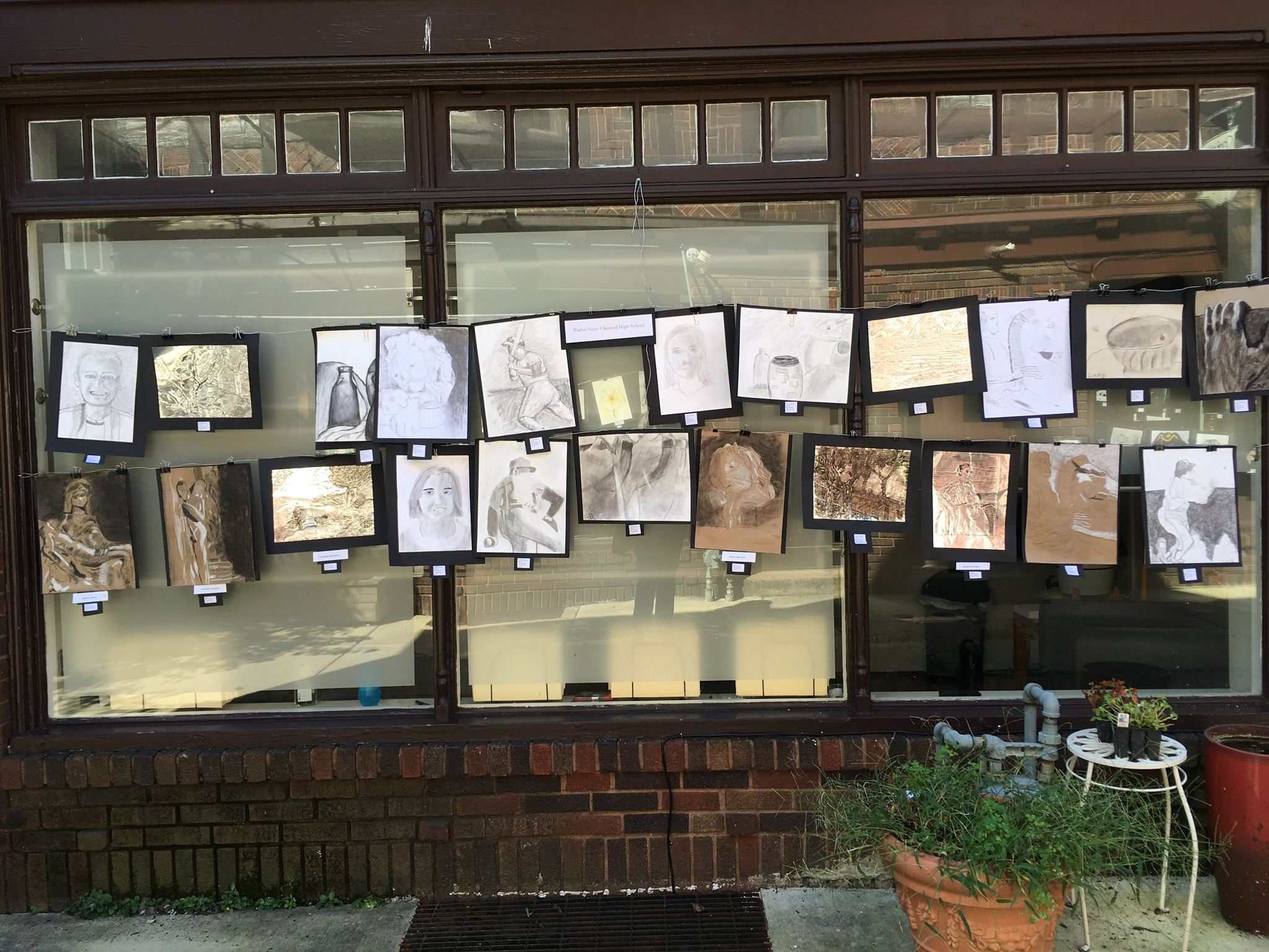 Martin Saints Classical High School entries in Jenkintown Festival of the Arts.JPG