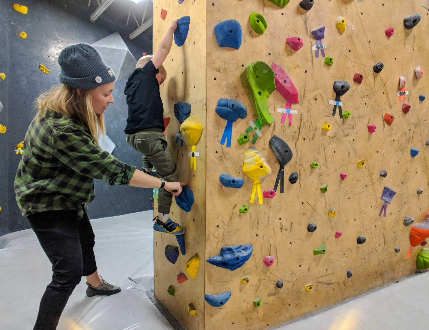 get involved, rock climbing