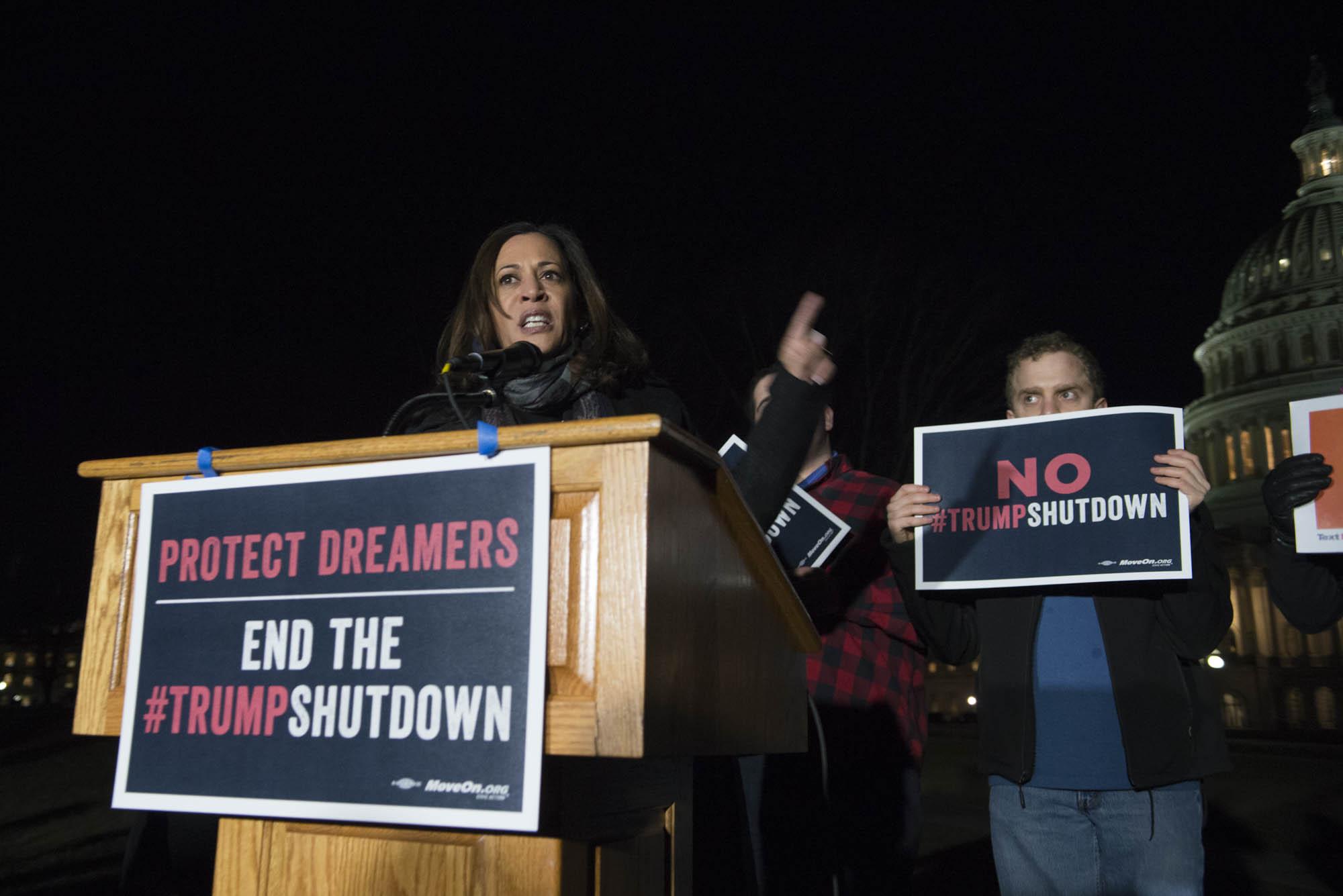 Senator Kamala Harris of California