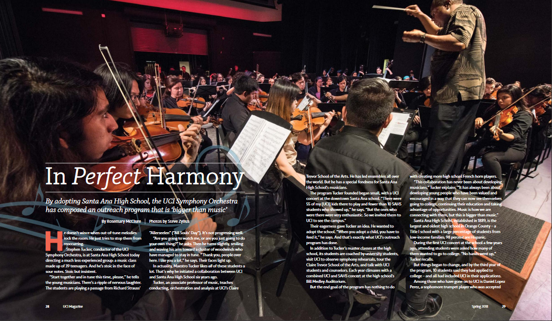 Symphony Orchestra - Discover how by adopting Santa Ana High School, the UCI Symphony Orchestra has composed an outreach program that is 'bigger than music'.