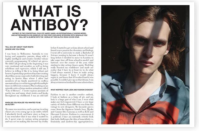 Don't forget to check out our cover story with @theantiboy photographed by @sirdavidsimon  starring @harryhains  @sencillomagazine