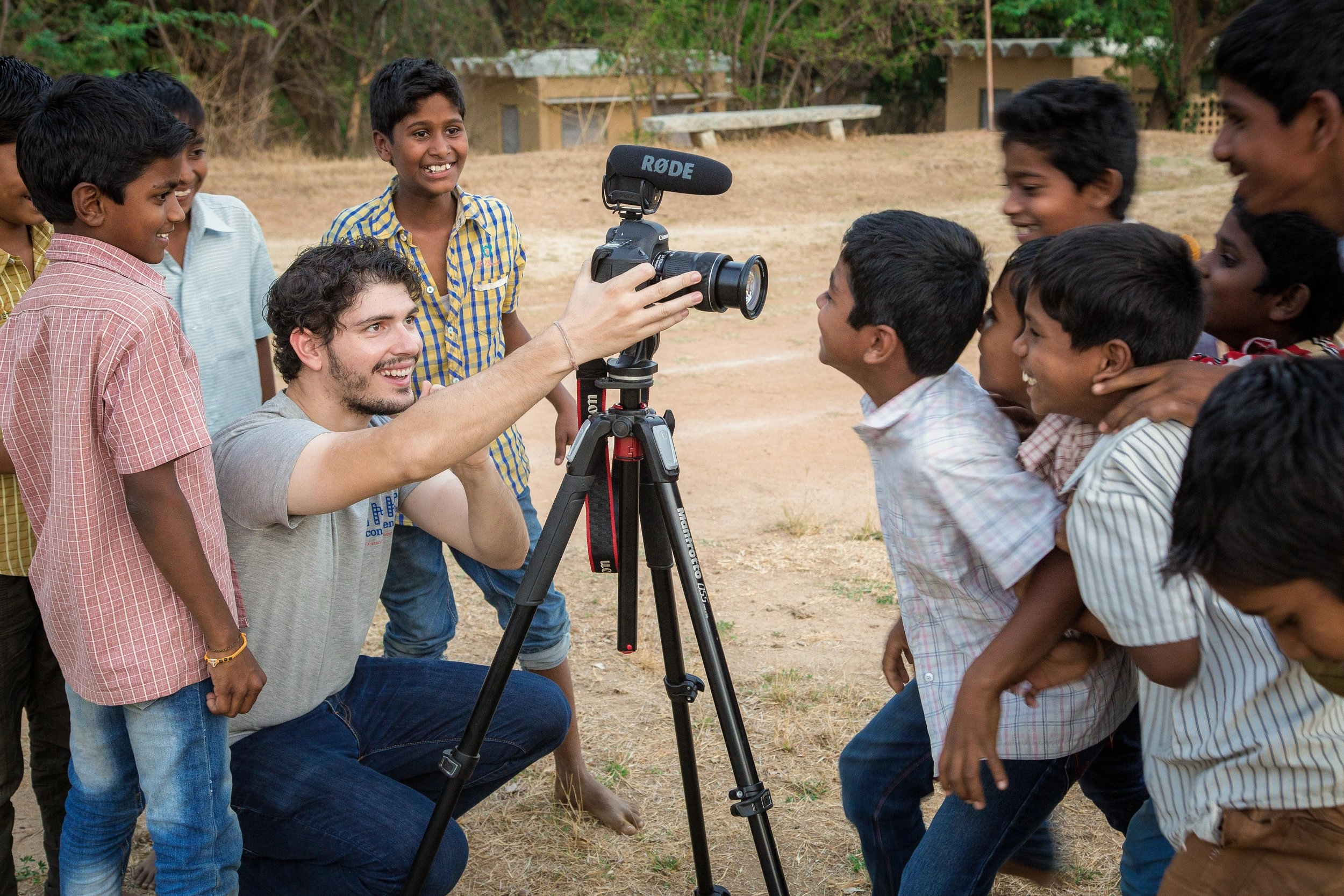 On location for the American India Foundation and RIVER in Rishi Valley, India 2016 Picture courtesy of Prashant Panjiar / The American India Foundation
