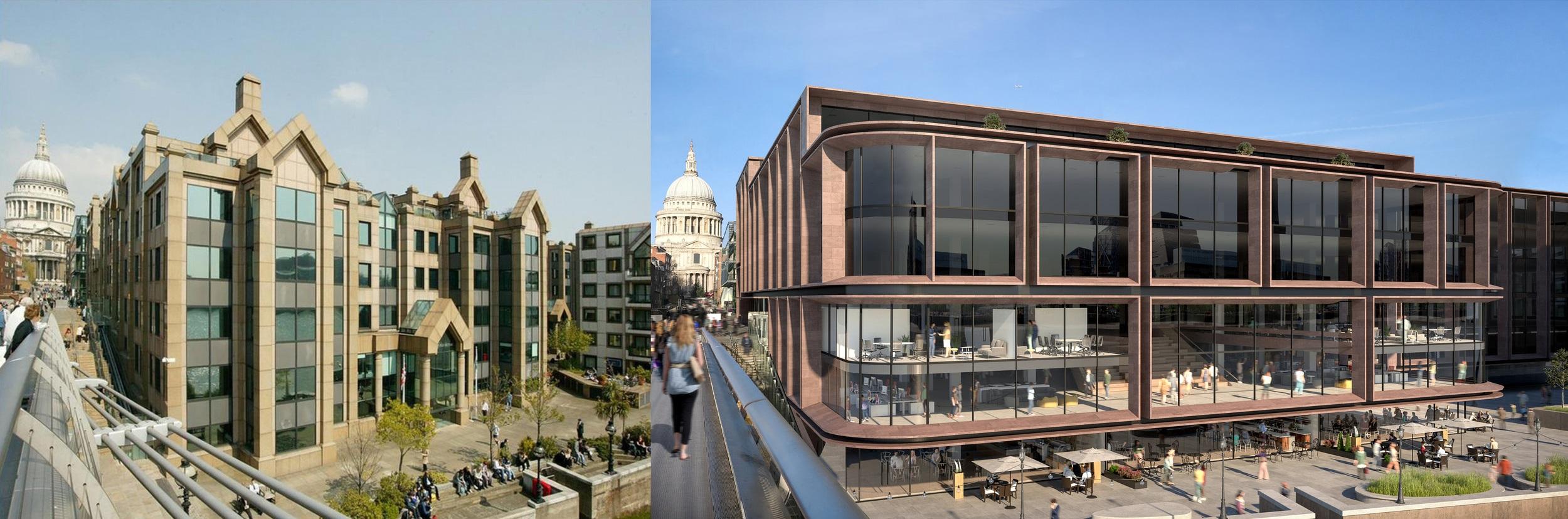 Revitalized Public Realm - View from the Millennium Bridge