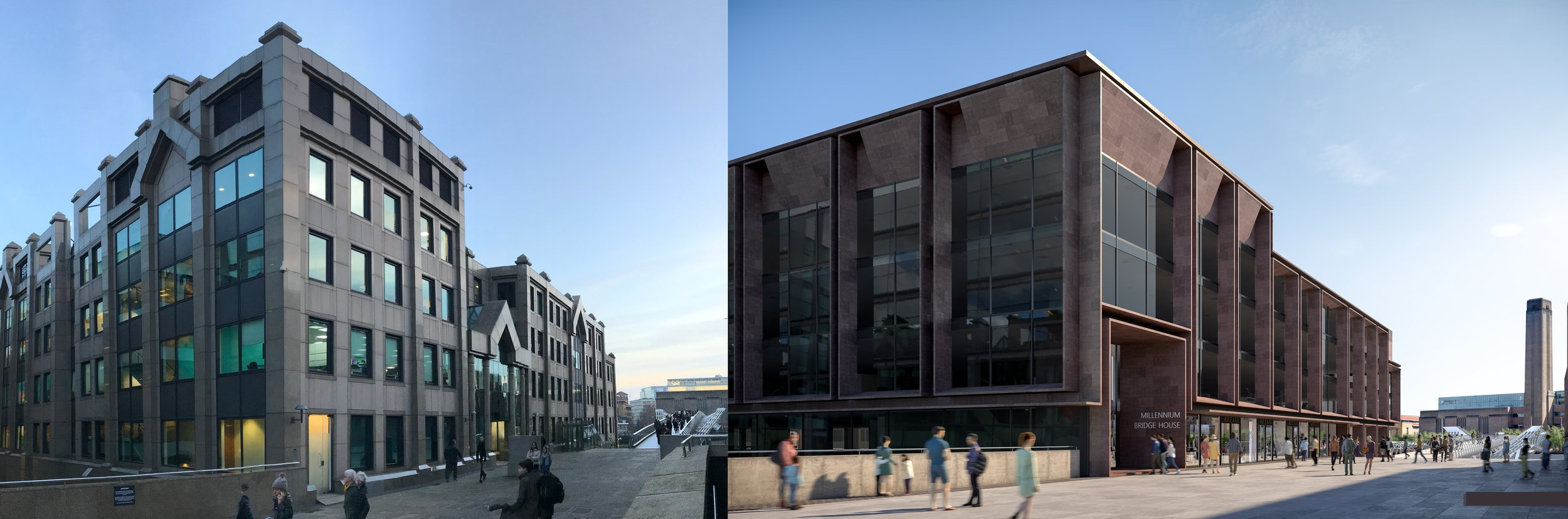 Reconfigured Entrance - View toward the Tate Modern