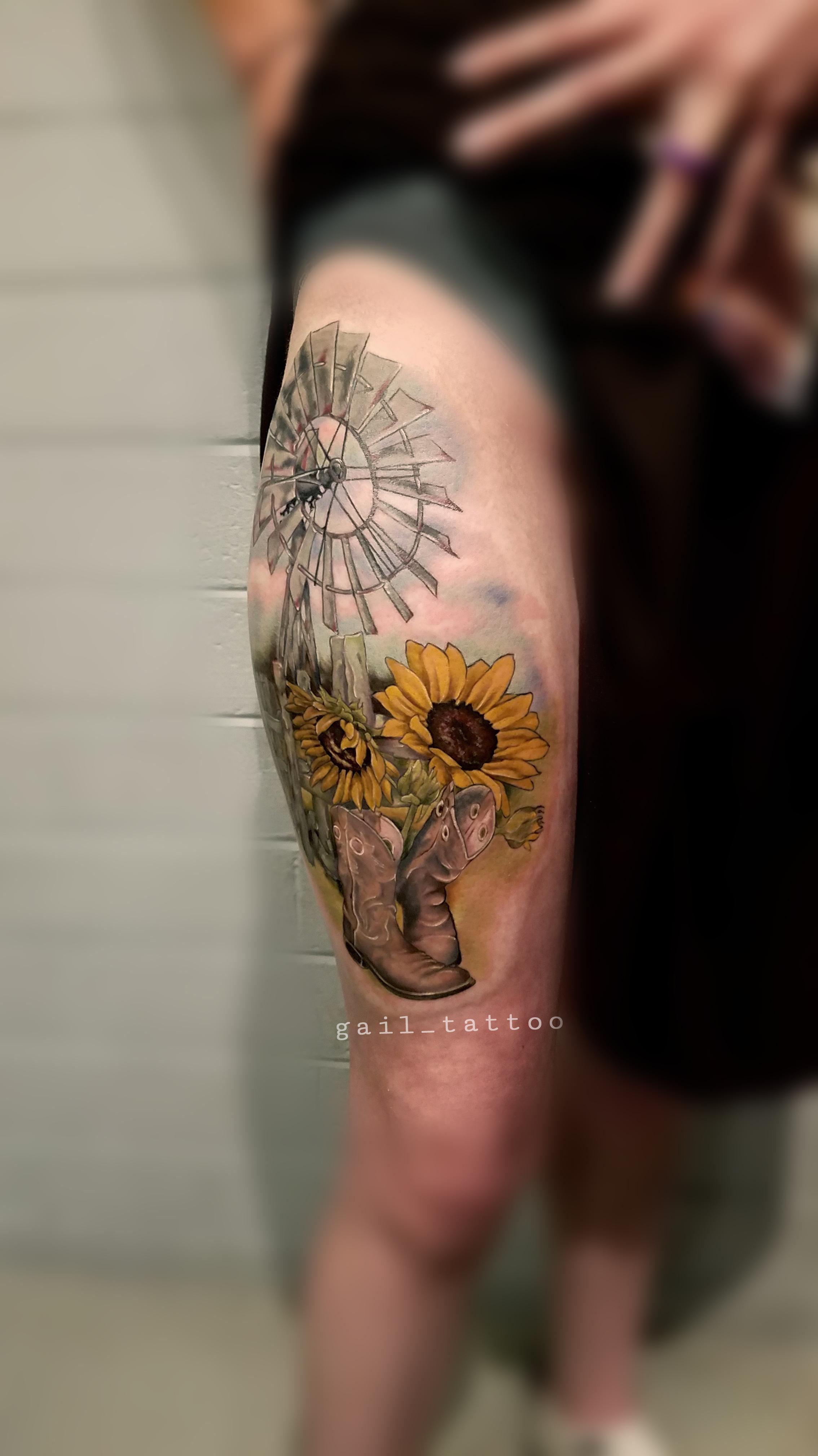 Gail Reilly Farm Scene 2 Tattoo