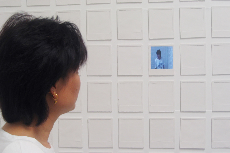 Audience Engagement. Photo of audience member fed into the photo feed / 2005