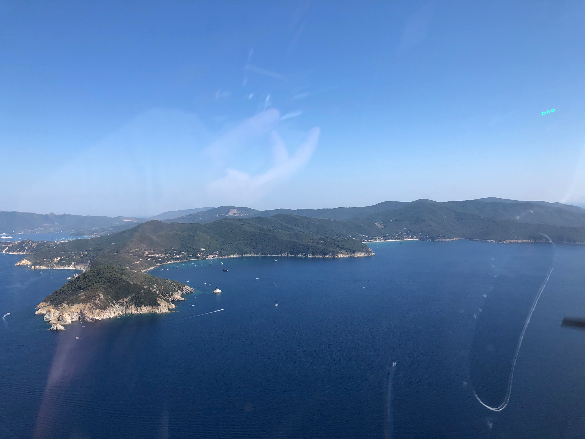 Unsere D-KYGL im Anflug auf Elba. Danke an Andreas und Francesco für das schöne Bild!