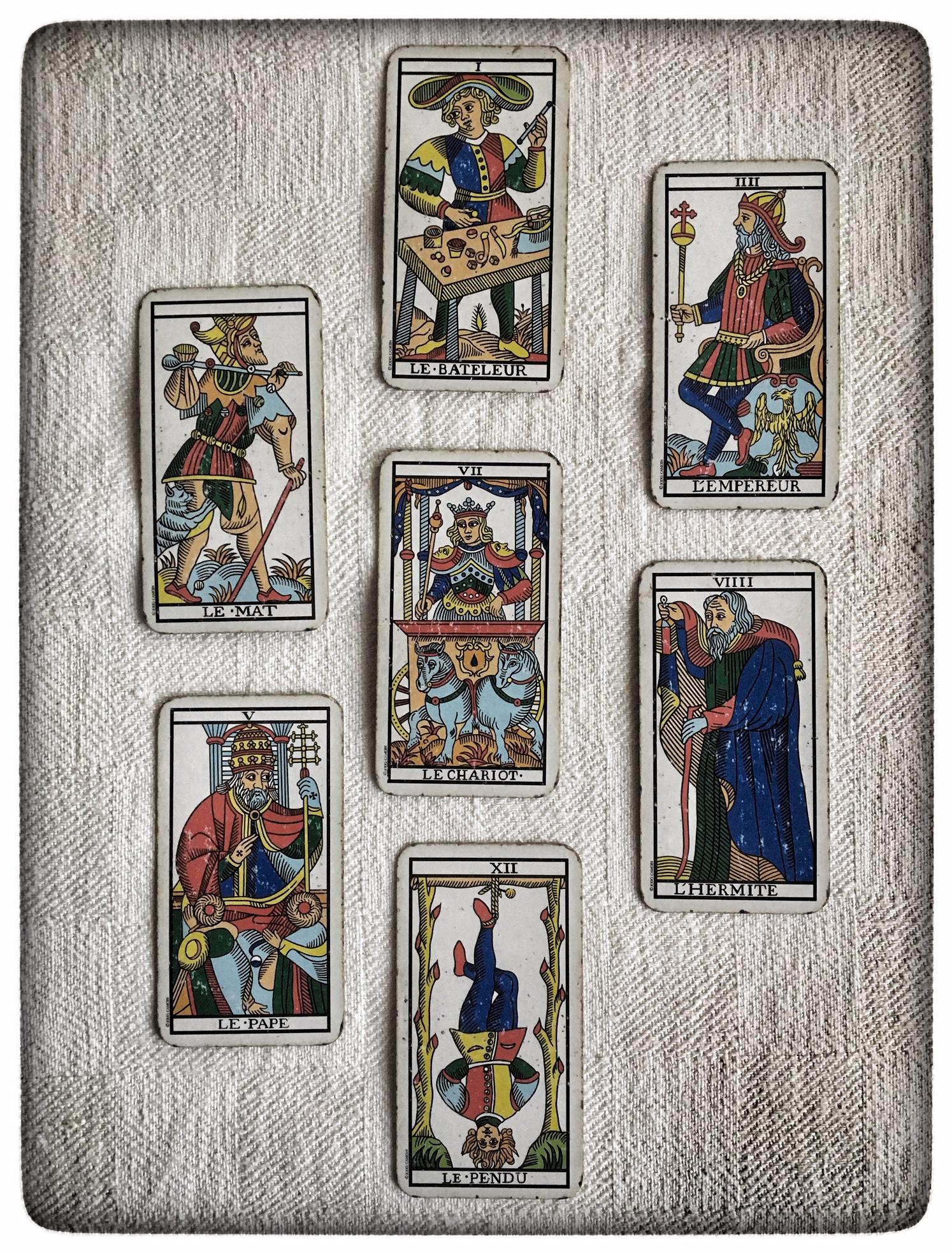 I sette maschi degli Arcani Maggiori (Tarot de Marseille)