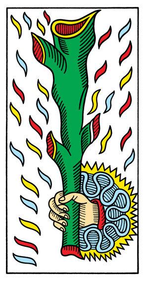 TORO_Asso di bastoni - Caro Toro, l'Asso di Bastoni, se usato nella maniera giusta, può agire come una bacchetta magica.A volte l'incantesimo più grande è quello di riuscire a vivere più stati d'animo nello stesso momento, senza pensare di essere pazzi: essere tristi e felici al tempo stesso a novembre si può.Cliccando qui troverai la ricetta della Torta Magica.